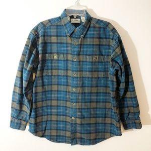 L.L. Bean Plaid Chamois Cloth Shirt